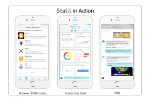 StatX develops unique Mobile Messanging App for Crypto and Blockchain Community