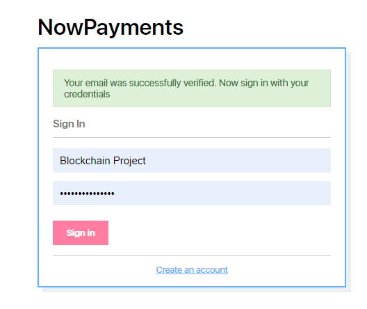 NowPayments - Login