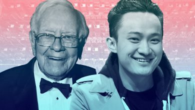 Justin Sun and Warren Buffett