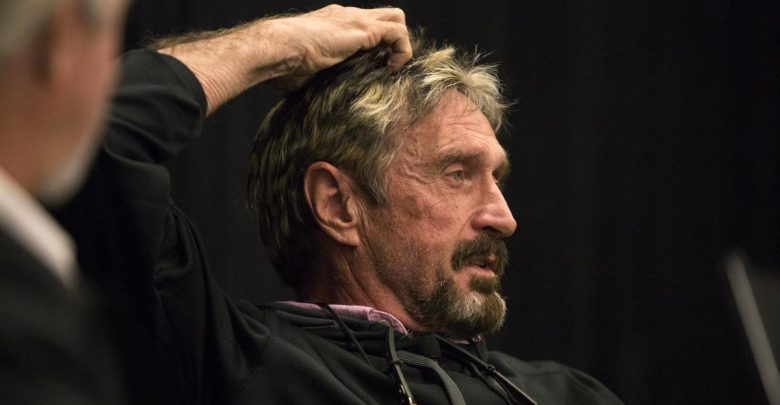 John McAfee In London
