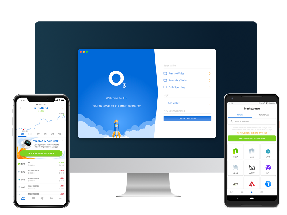 O3 Smart Wallet Now Supports BTC, ETH, USDC, LTC, EOS, And