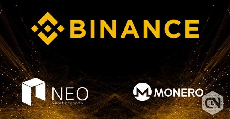 Binanace has added the Margin Trading for NEO and XMR