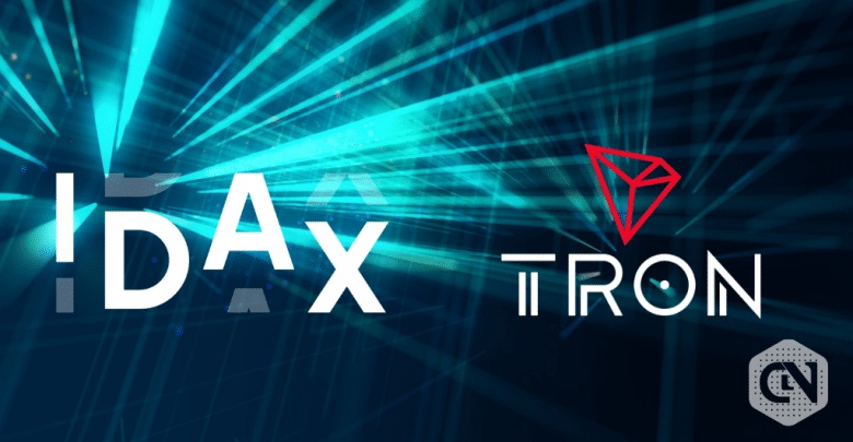 IDAX partners with Tron foundation