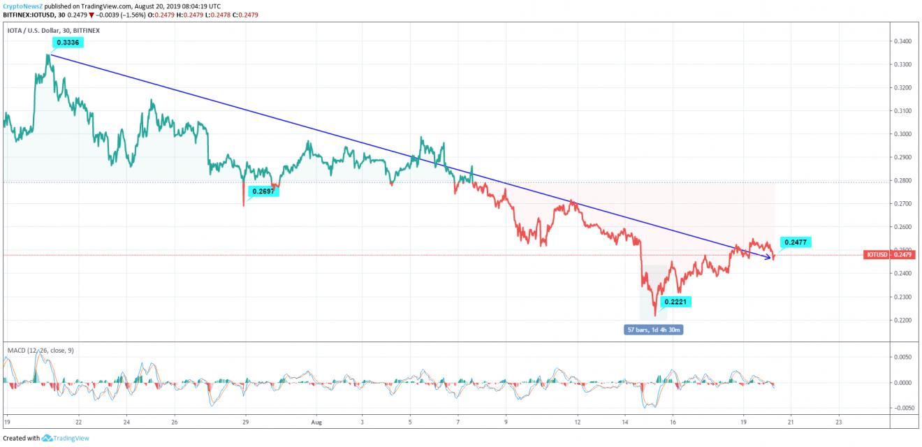 IOTA price chart - Aug 20