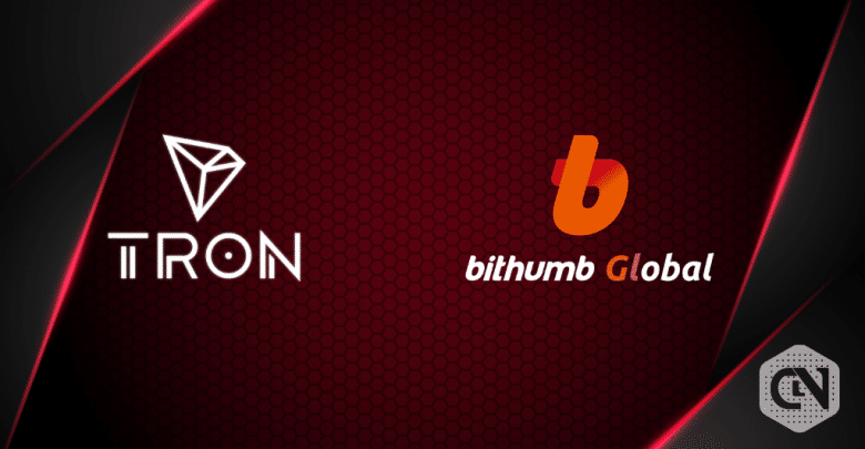 TRON will be available on BithumbGlobal