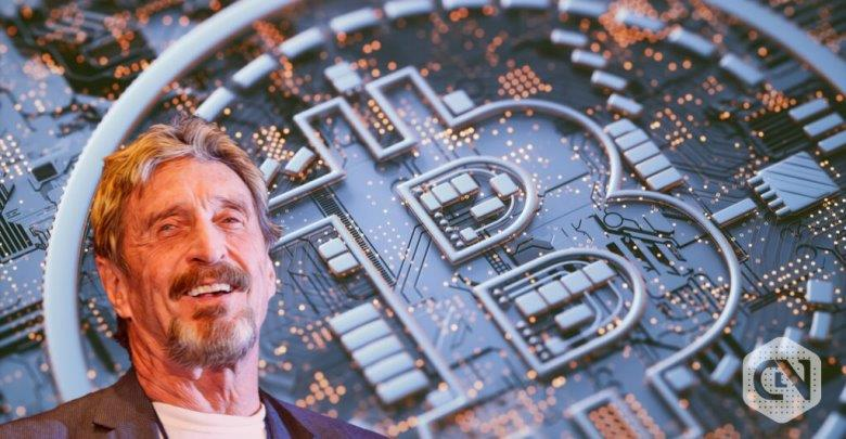 John McAfee Supports Peter Brandt 50,000 USD Bitcoin Prediction