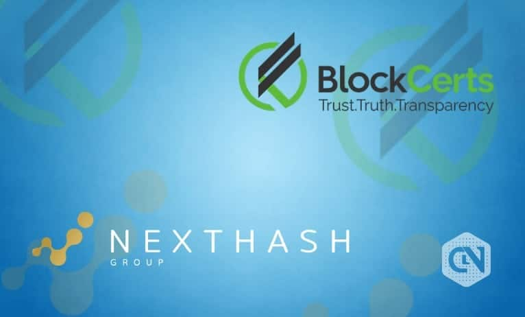 BlockCerts.com Joins Hands With NextHash to Provide Token-based Solutions