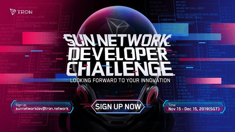 TRON Starts Registration Process for the Sun Network Developer Challenge