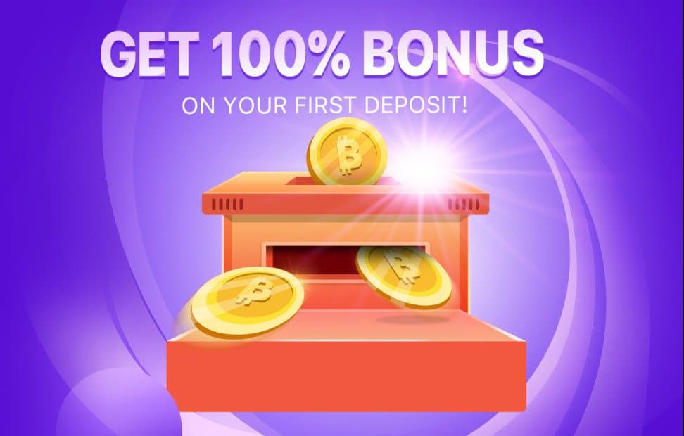 Get 100% First Deposit Bonus