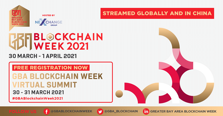 Greater Bay Area Blockchain Week 2021 to be Held on 30th March–1st April