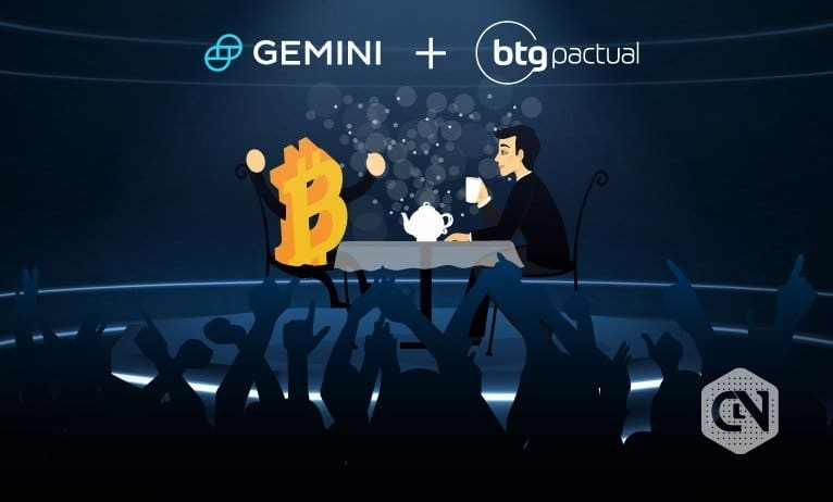 Gemini Turns Custodian to BTG Pactual's First Bitcoin Fund