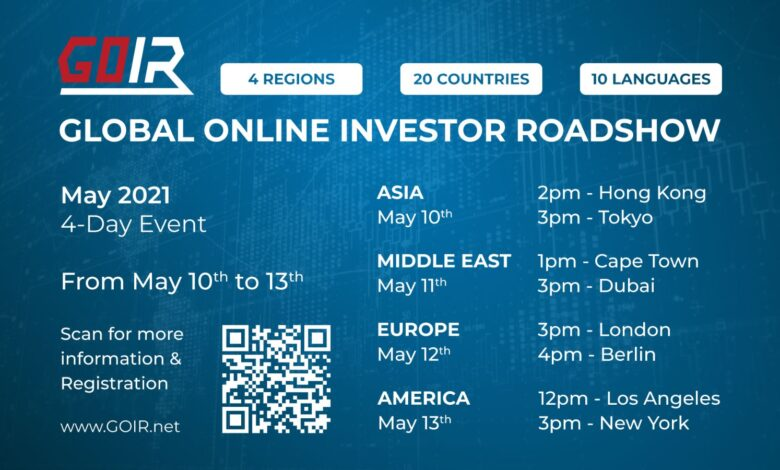 Global Online Investor Roadshow, May 2021