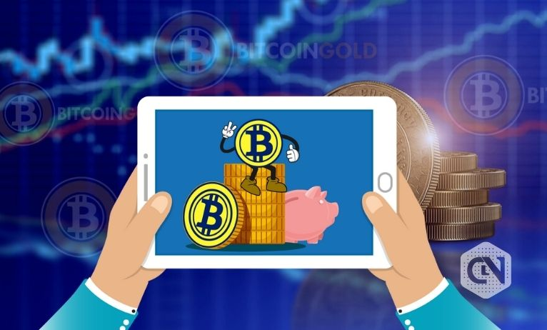 Bitcoin (BTG) gold shows a continuous upward trend over the past month