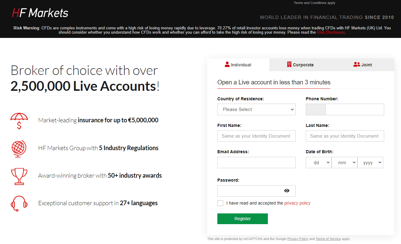 HotForex Account Opening Process