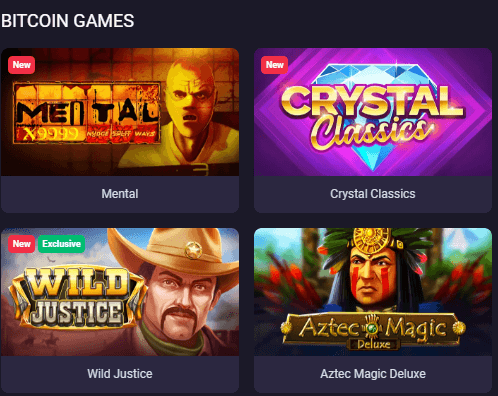 BTC Games Offered by BitStarz