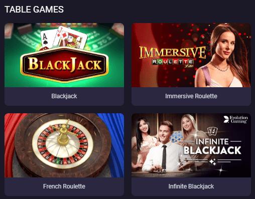 Enjoy Various Table Games at BitStarz