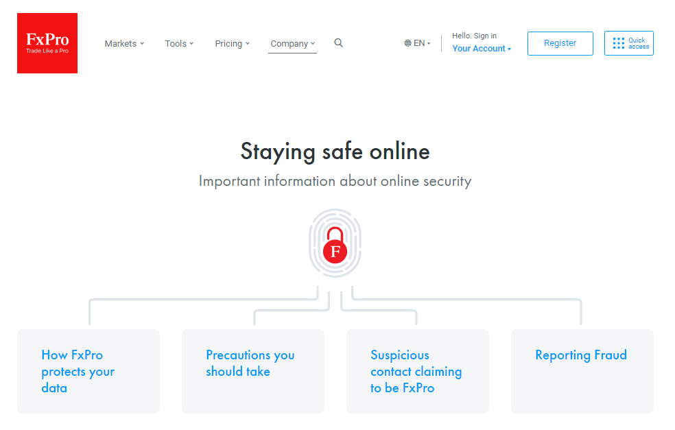 FxPro Security Measures